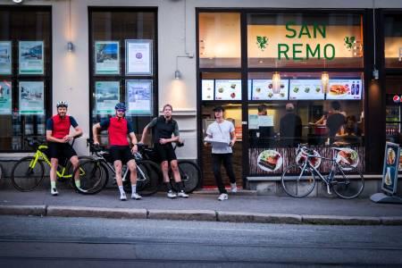 MILANO - SANREMO: Turen går fra Milano Pizza på Bryn til Sanremo Kebab på Torshov. Men hvordan får vi turen 298 kilometer lang, like lang som proffene?