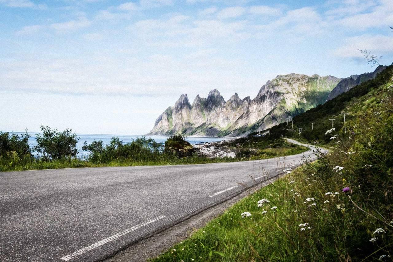 HAITENNER: Ikke glem å snu deg når du kommer til Tungeneset, da får du den voldsomme fjellrekken bare kalt Oksen i horisonten. Foto: Henrik Alpers