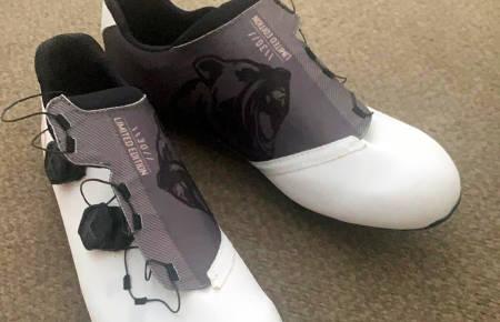 NYE SKO: Alexander Kristoff har fått et par nye limited edition-sko fra sin skosponsor Northwave. FOTO: Alexander Kristoff