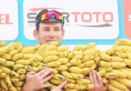 Mark Cavendish og bananer.