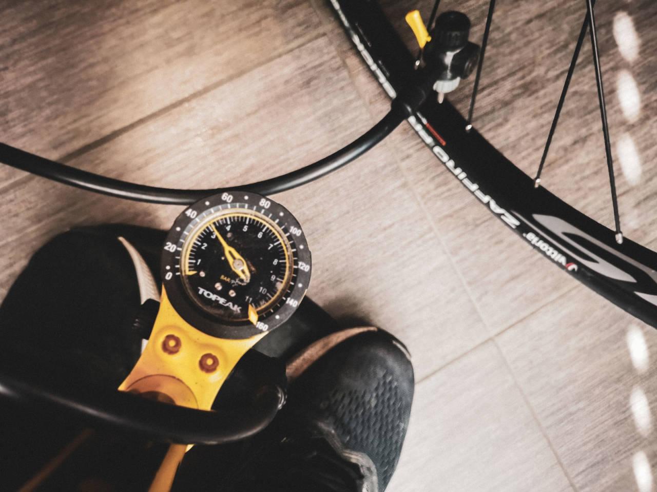 Sykkelpumpe til racersykler