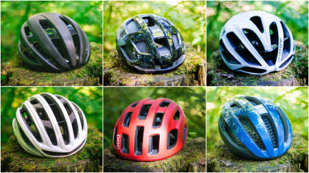 HJELMTEST: Vi har testet hjelmer fra Specialized, POC, Bontrager, Kask, Lazer og Smith. Foto: Knut Andreas Lone