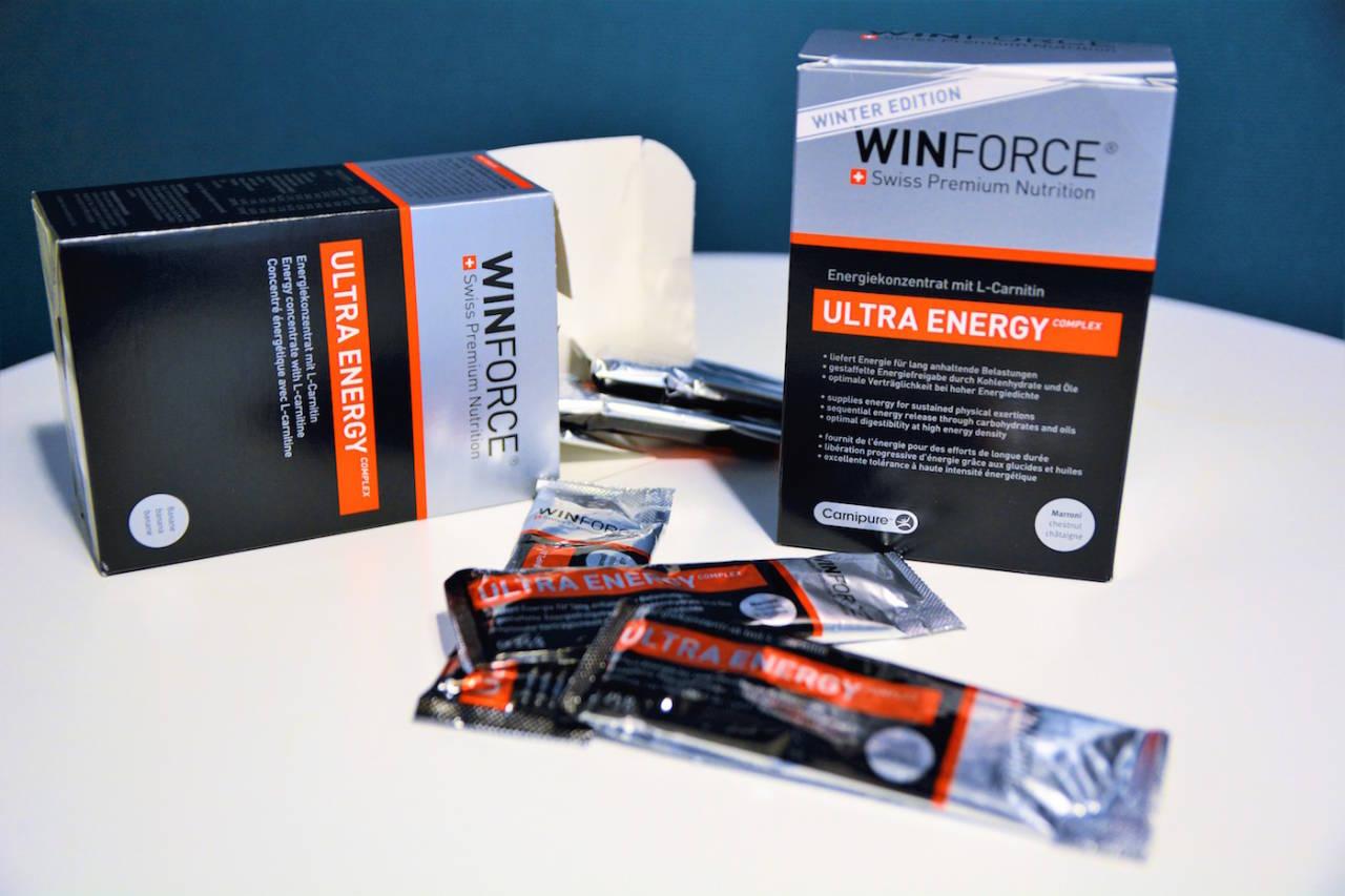 RIKHOLDIG: Energigelen til WINFORCE er rikt på kalorier på grunn av tilsatte organiske oljer. Foto: Marcus Liebold.