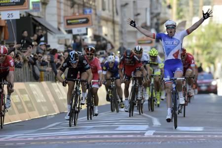 KONGEN AV SANREMO: Arnaud Demare hadde dagen og vant noe overraskende Milano - Sanremo 2016. Foto: Cor Vos