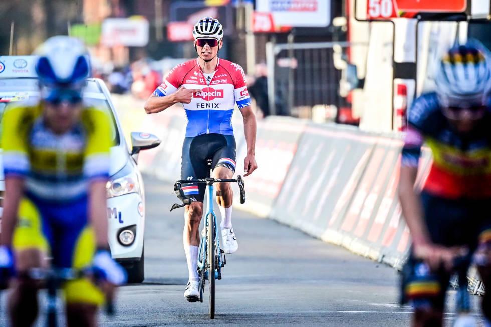 SOLID KOMPENSASJON: Har du i likhet med Mathieu van der Poel den nye Aeroaden til Canyon, får du nå en solid sum penger for ikke å ta sykkelenl i bruk. Foto: Cor Vos.
