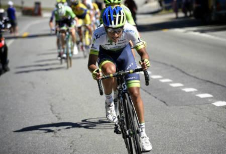 STERKEST: Esteban Chaves opprettholdt colombiansk tradisjon og vant den tøffe bakkefinishen i Vueltaen. Foto: Cor Vos