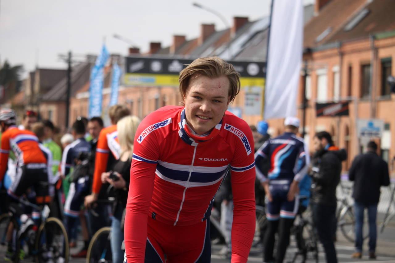 FÅR SJANSEN: Tobias Foss er en av seks ryttere som er tatt ut til Tour de l'Avenir 20. til 27. august. Foto: NCF