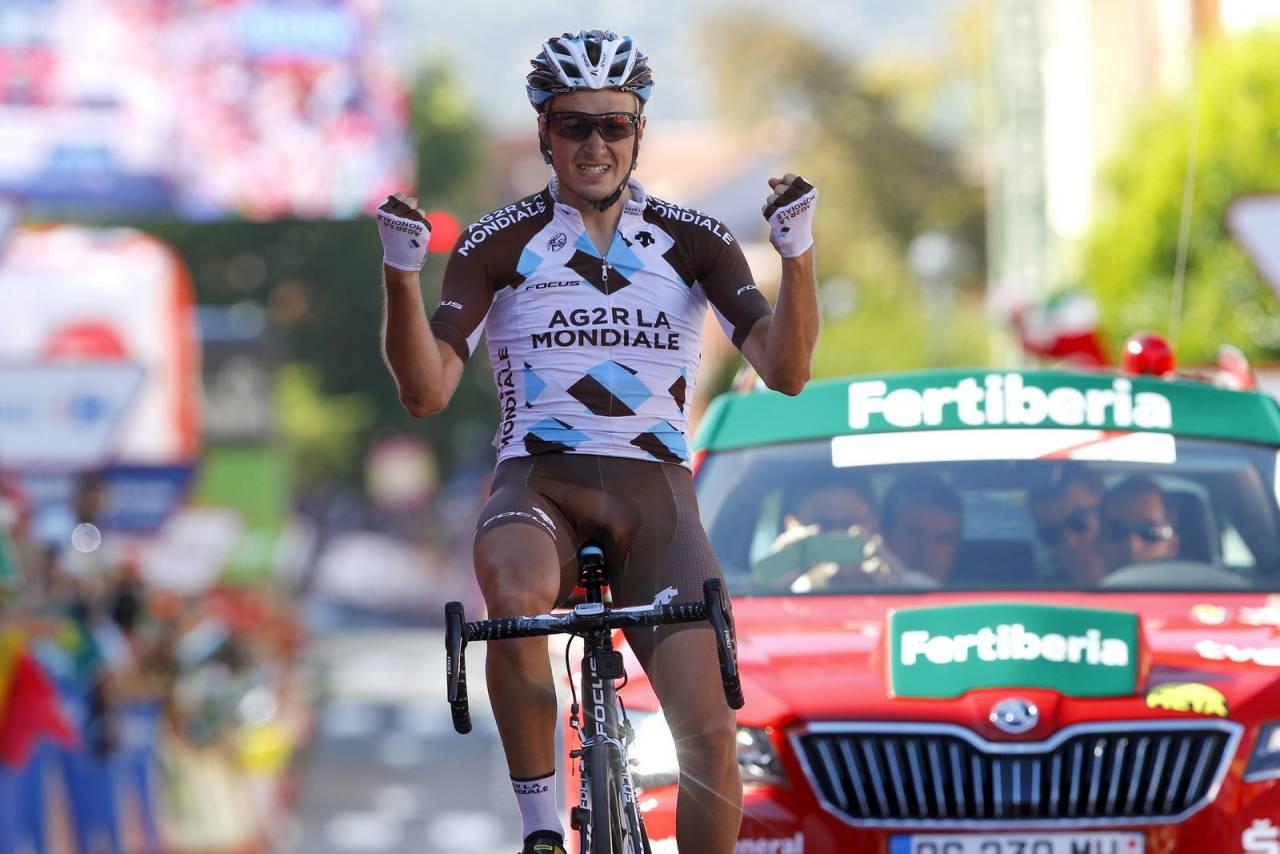 LOVENDE RYTTER: Alexis Gougeard har en stor framtid foran seg, i dag vant han sin første etappeseier i et treukersritt. Foto: Cor Vos.