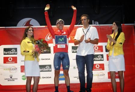 ØNSKEREPRISE: Jonathan Castroviejo tok den røde ledertrøyen etter første etappe (som også var lagtempo) i 2012, i dag gjorde han det igjen! Foto: Cor Vos.