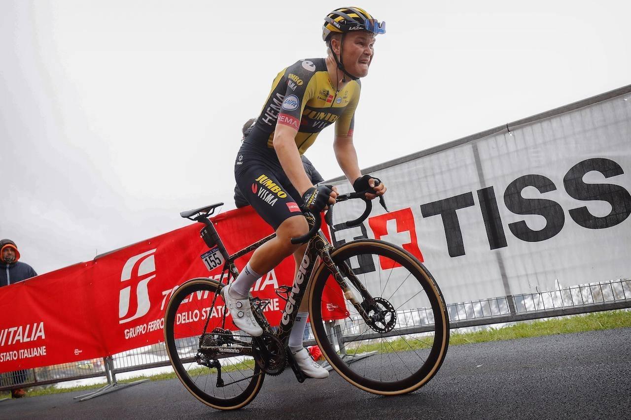 LETTVEKTER: Tobias Foss brukte Cervélo sin nye R5 under Giro d'Italia i vår. Nå er sykkelen offisielt lansert. Foto: Cor Vos