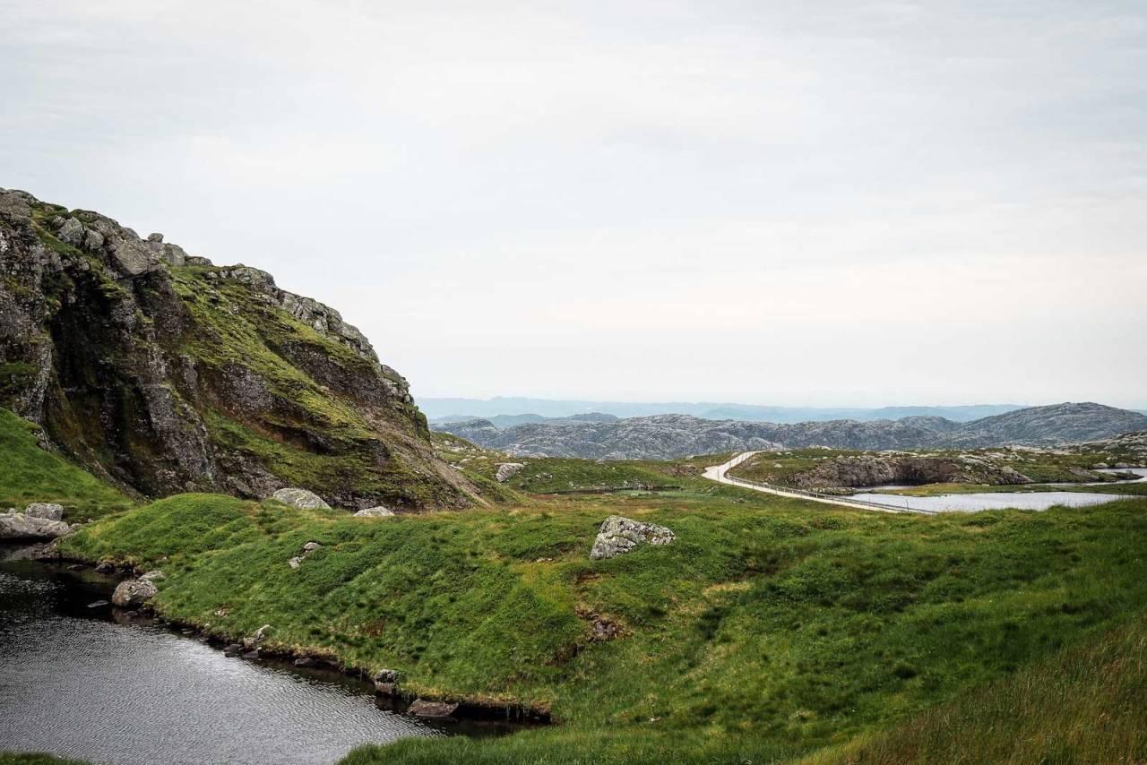 PERLE: Opp fra Ryfylkeheiene stiger Skykula, et fjell som er som skapt for sykling.