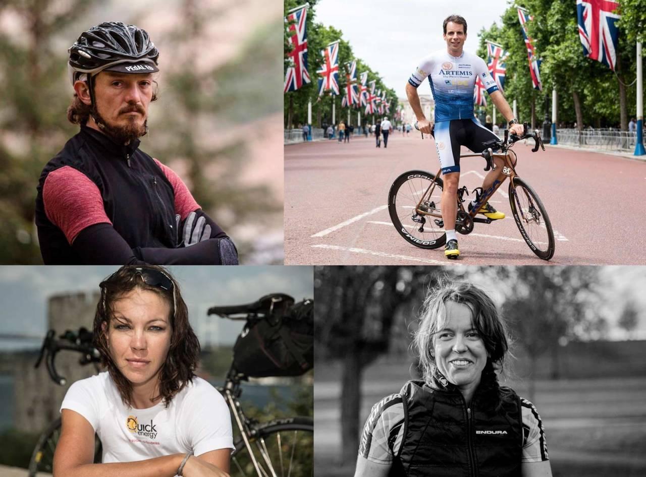 Mike Hall, Mark Beaumont, Julianna Buhring, Jenny Graham, Jorden rundt-sykling