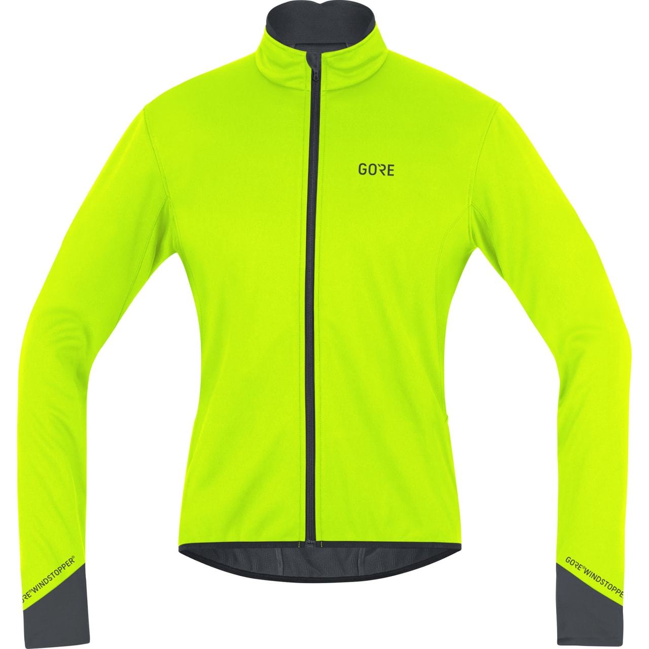 OGSÅ I ANDRE FARGER: Om du synes gult blir litt skrikende, finnes jakken i rødt. God å sykle med om vinteren er den uansett.
