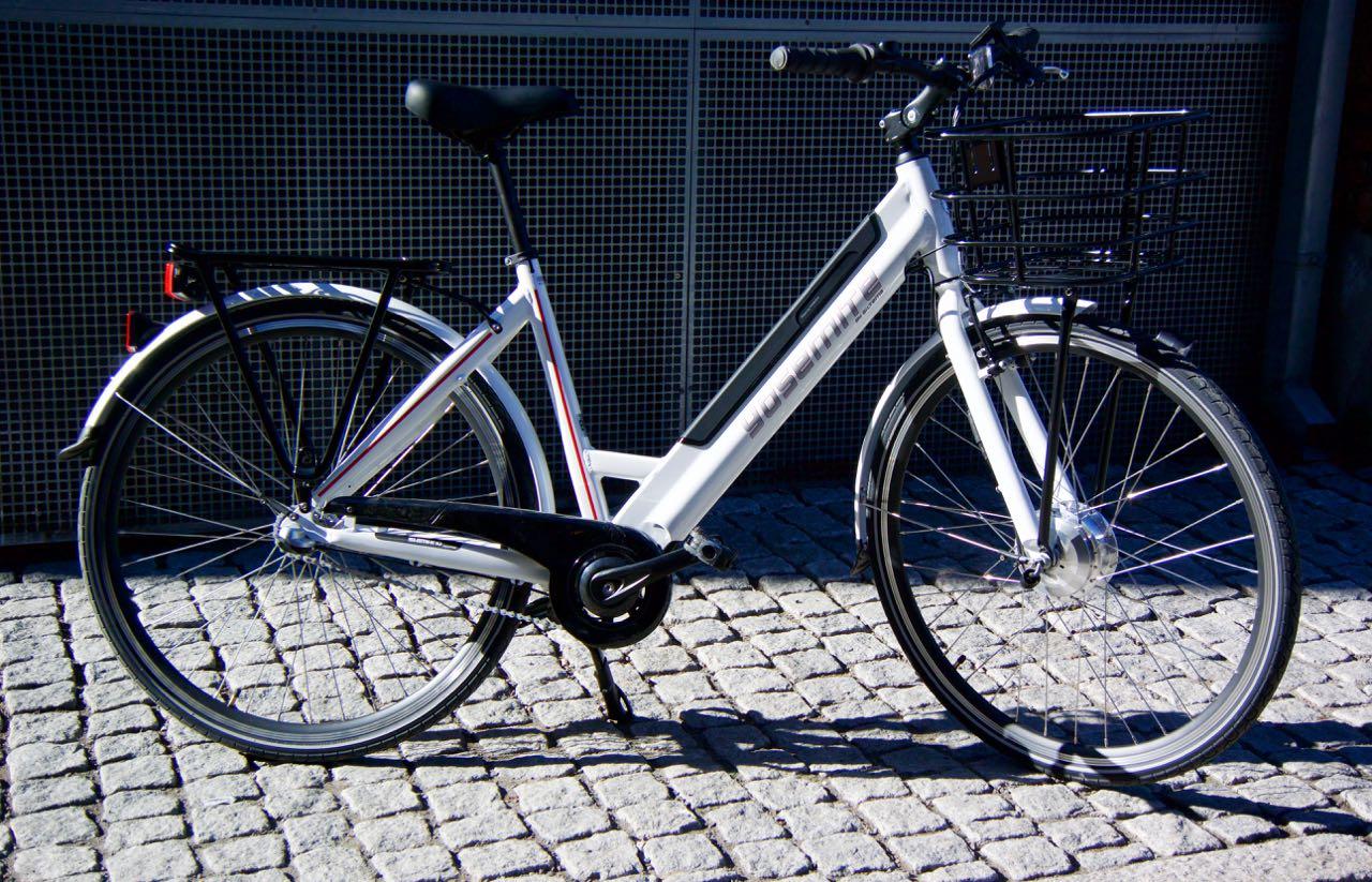 ELEGANT: Biltema har vært flinke med utformingen av elsykkelen City Sport