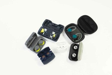 TRÅDLØSE PLUGGER: Seks par øreplugger til aktiv bruk er testet med tanke på friluftsliv, trening og sykling.