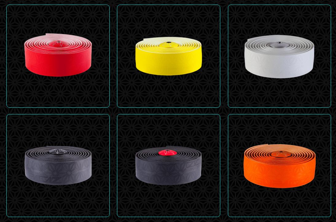 DRØSSEVIS: Supacaz styrebånd kommer i en hel rekke flott farger.