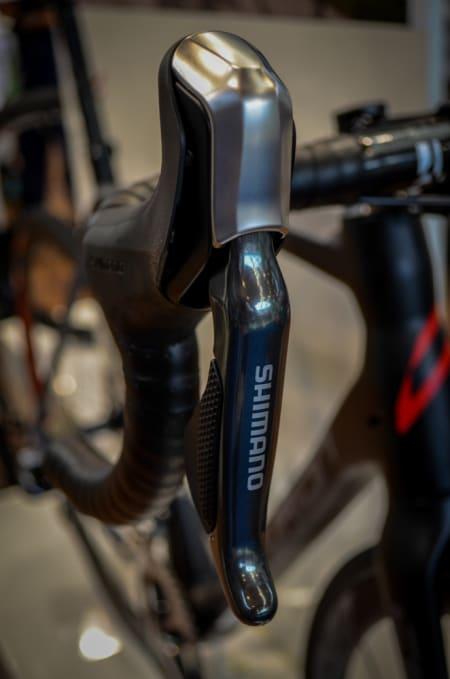 HYDRAULISK: Shimano viste frem sin nye hydrauliske bremsehendel. Den vil kun bli tilgjengelig for elektroniske girsystem.