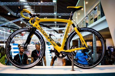YELLOW: Shimano var synlig stolte av at Chris Froome kjørte på deres utstyr i Tour de France. Clincherhjulene er imidlertid neppe brukt av Tour-vinneren