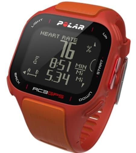 ORIGINALEN: I tillegg til den rødoransje varianten, kommer klokken også i en egen Tour de France-modell. Foto: Polar.fi