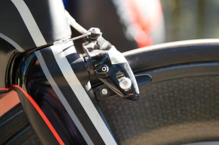 STOPP EN HALV: Til og med bremsene har fått en omforming for å bli mer aerodynamiske.