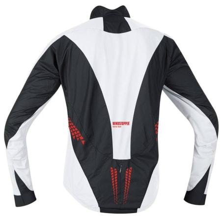 FORMSYDD: Lenger i ryggen og kortere på magen, jakken er formet til folk som sitter på sykkelen. En liten lomme på ryggen er kjekk å ha.