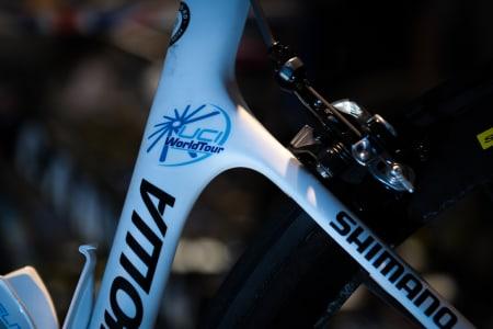 TOPPNIVÅ: På seterøret står det klart og tydelig hvilket nivå denne sykkelen brukes på.
