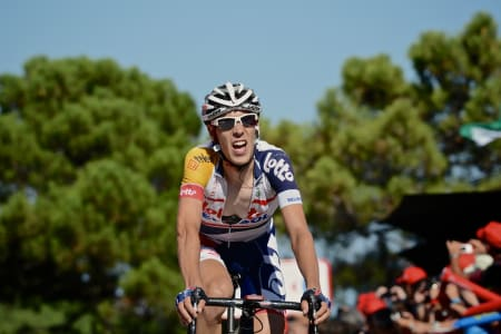 ABSOLUTT GODKJENT: Bart De Clercq (Lotto-Belisol) tråkker inn til en sterk 6. plass på gårsdagens etappe.
