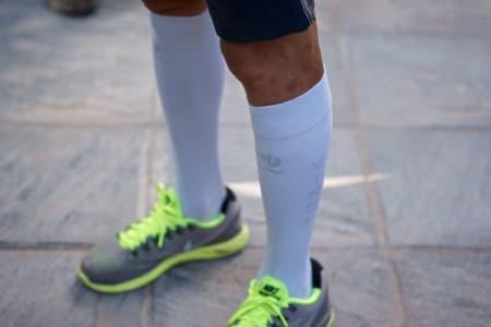 RESTITUSJON: Nibali tar i bruk alle lovlige midler for å hente seg inn igjen etter en knalltøff etappe.