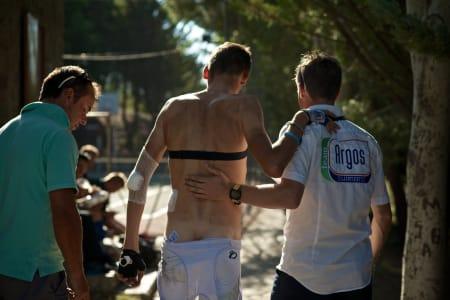 HARD PROFESJON: Usikkert om denne rytteren fra Argos-Shimano stiller til start i Tarazona.