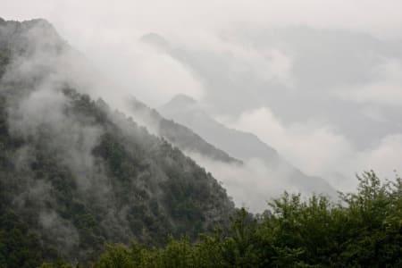 VILLT, VÅTT & VAKKERT: Ganske tungt værmessig opp den siste 1. kategorerien, Collada de la Gallina.