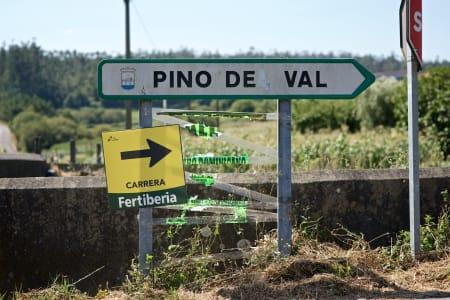 VEIMERKING: Arrangøren har et svare strev med å skilte ruta på kronglete veier i Galicia!