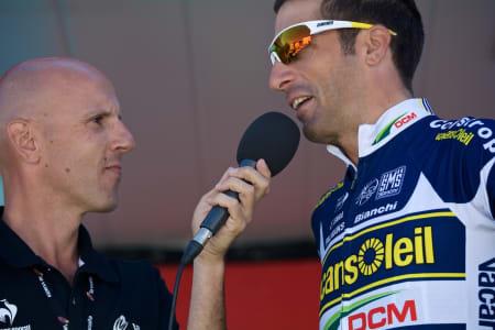 POPULÆR HERREMANN: Flecha er et ettertraktet intervjuobjekt i Vuelta a Espana.