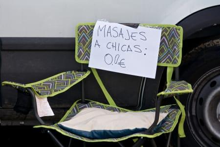SUPERTILBUD: Gratis massasje i de bratteste partiene opp Alto de l'Angliru, men kun for damene!