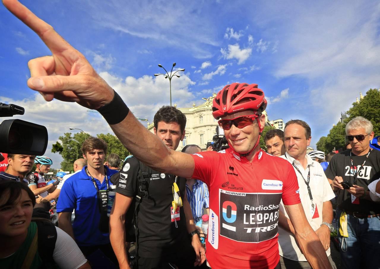 SER FREMOVER: Chris Horner vant sensasjonelt Vuelta a España i en alder av 41 år, men han har foreløpig ikke kontrakt for 2014-sesongen. Foto: Cor Vos