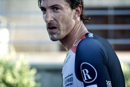 VILLMANN: Fabian Cancellara høy på adrenalin etter målgang.