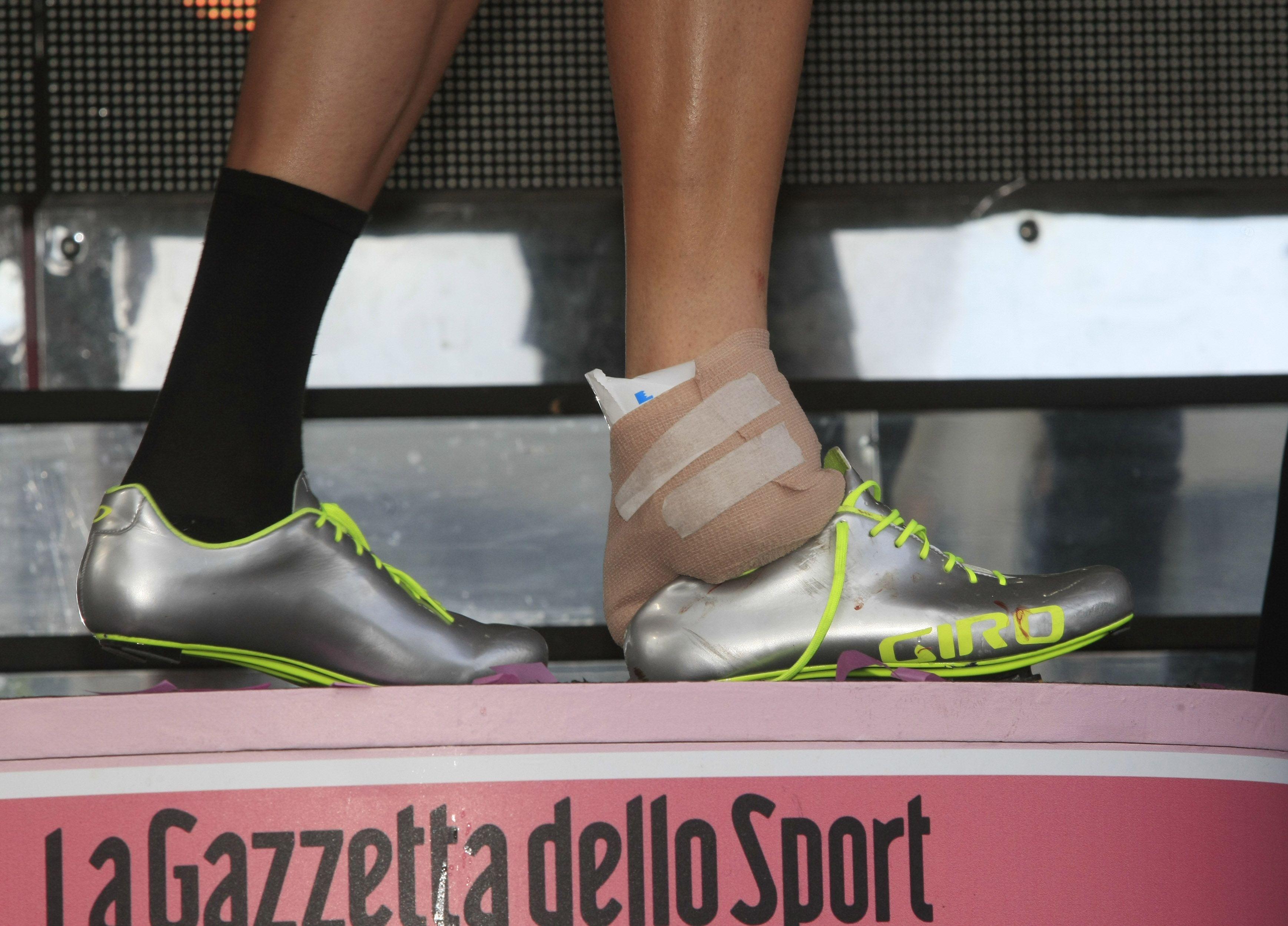 BEGYNNELSEN: Taylor Phinney syklet Giroen 2011 med den første utgaven av Giro Empire, og dermed var trenden startet. Foto: Cor Vos.